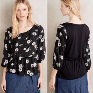 Anthropologie Deletta Open-Sleeved Blouse